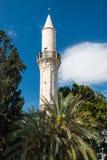盛大清真寺在拉纳卡塞浦路斯 免版税库存图片