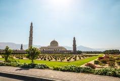 盛大清真寺,马斯喀特,阿曼 图库摄影