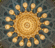 盛大清真寺-马斯喀特-阿曼 免版税库存照片