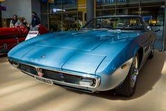 盛大游览车汽车Maserati吉卜力Spyder AM115, 1970年 免版税库存图片