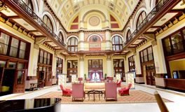 盛大联合驻地最初108旅馆的内部,纳稀威田纳西 免版税图库摄影