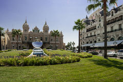 赌博娱乐场和旅馆de巴黎在蒙特卡洛 免版税库存图片