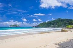 盛大Anse海滩,塞舌尔群岛 库存照片