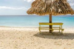 盛大Knip海滩在荷兰安的列斯的库拉索岛 库存图片