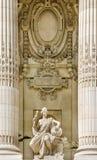盛大Palais,巴黎门面细节  免版税库存照片