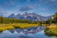 盛大Tetons视图 免版税图库摄影