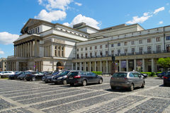 盛大Theatre—国家歌剧院在华沙,波兰 免版税库存照片