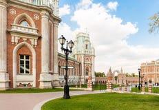 盛大Tsaritsyno宫殿 库存图片