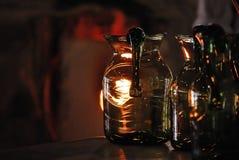 盛开的玻璃jamestown投手 免版税图库摄影