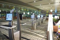 目前,机场有三个操作的终端 免版税库存图片