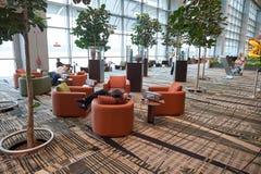 目前,机场有三个操作的终端 图库摄影