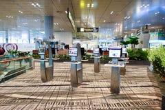 目前,机场有三个操作的终端 免版税库存照片
