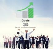 目标启发使命刺激目标网站概念 免版税图库摄影