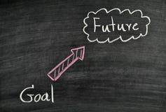 目标和未来在黑板 免版税图库摄影