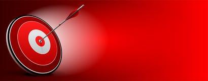 目标和箭头,向量企业背景 库存例证