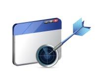 目标巨大网上企业概念例证 库存照片