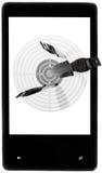 目标新的智能手机 库存照片