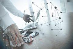 目标焦点数字式图和图表的概念连接机智 库存照片