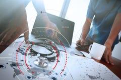目标焦点数字式图和图表的概念连接机智 库存图片
