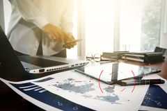 目标焦点数字式图,图表的概念连接,真正 免版税库存图片
