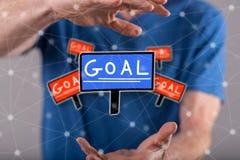 目标的概念 免版税库存照片