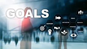 目标目标期望成就图表概念 对成功和增长的成长的业务发展 免版税库存图片