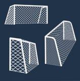 目标足球多种视图 免版税库存照片