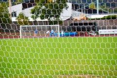 目标足球 库存照片