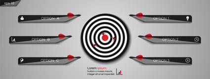 目标飞镖 Infographic目标成就的箭头概念 r 向量例证