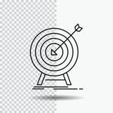 目标,命中,市场,成功,在透明背景的靶子设置线象 r 向量例证