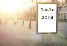 目标2018文本 免版税图库摄影