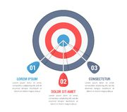 目标Infographics 库存例证