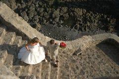 目的地婚礼 免版税库存照片