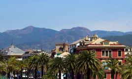 目的地意大利levante利古里亚地区sestri游人 库存照片