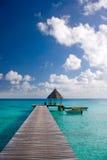 目的地热带码头的手段 库存照片