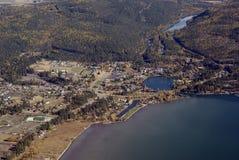 目的地西部蒙大拿的游人美国 库存图片