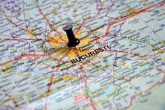 目的地: 布加勒斯特,罗马尼亚 免版税库存照片