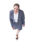 目的概念 确信的企业夫人挺身而出 免版税图库摄影