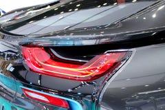盯梢BMW系列I8创新加州光  免版税图库摄影
