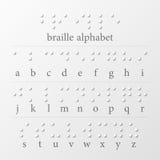盲人识字系统加点字母表 图库摄影