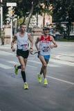 盲目的运动员奔跑 库存图片