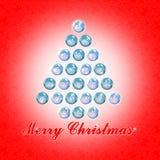 直到圣诞节-与圣诞树的概念图象的二十四天 库存照片