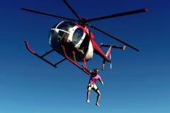 直升机上涨 免版税库存图片