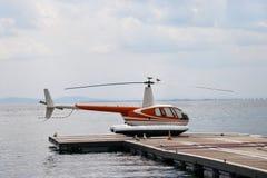 直升机乘客 库存图片