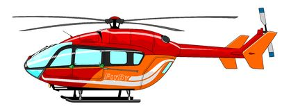 直升机例证乘客 免版税库存照片