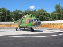 直升机俄语 免版税库存图片