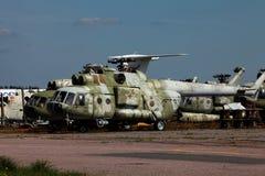 直升机军事俄语 免版税库存照片