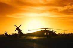 直升机军人 免版税图库摄影
