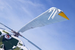 直升机冰柱螺丝 免版税图库摄影