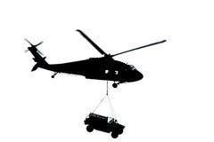 直升机剪影 库存照片